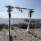 Bröllopsportal vid havet