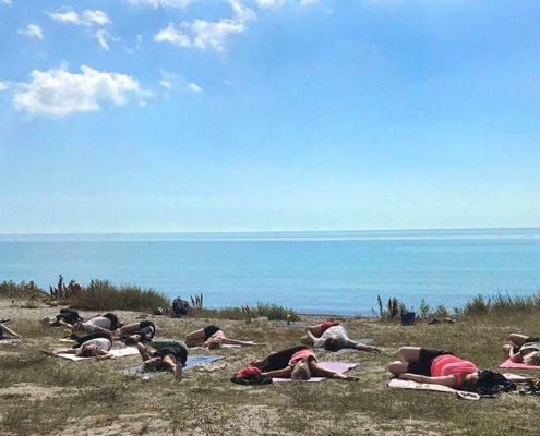 Yoga på Smygehus Havsbad