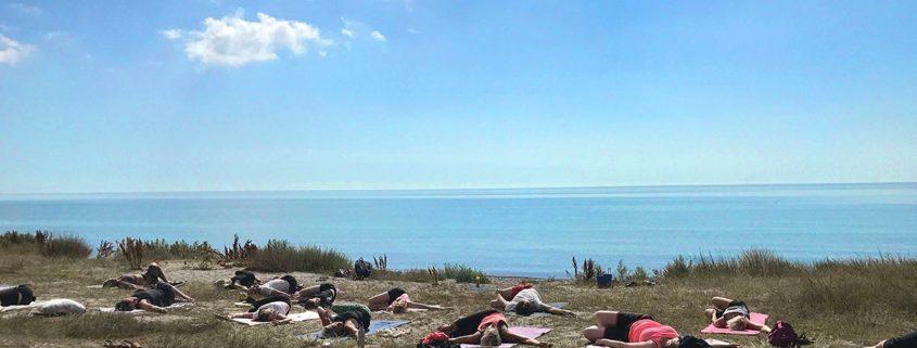 Yoga på Smygehus Havsbad 2021